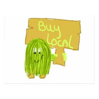 Olive Green Buy Local Postcard