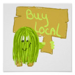 Olive Green Buy Local Posters