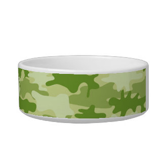 Olive Green Camo Camoflauge Custom Pet Bowl