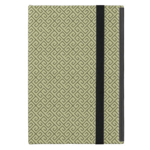 Olive Green Celtic Spiral Right Angle Lines Case For iPad Mini