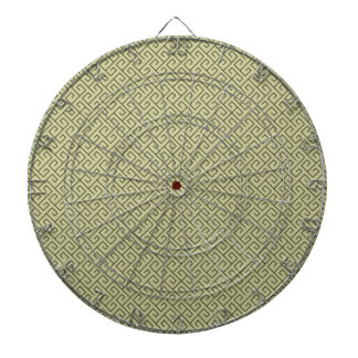 Olive Green Celtic Spiral Right Angle Lines Dartboard