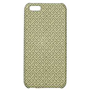 Olive Green Celtic Spiral Right Angle Lines iPhone 5C Case