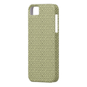 Olive Green Celtic Spiral Right Angle Lines iPhone SE/5/5s Case