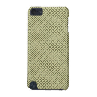 Olive Green Celtic Spiral Right Angle Lines iPod Touch 5G Case