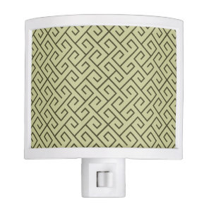 Olive Green Celtic Spiral Right Angle Lines Night Light