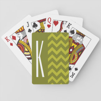 Olive Green Chevron Deck Of Cards