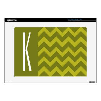 "Olive Green Chevron 15"" Laptop Skins"