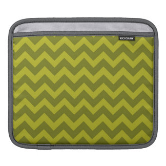 Olive Green Chevron Stripes Sleeves For iPads