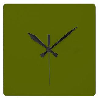 Olive Green Clock