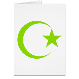 Olive Green Crescent & Star.png Cards