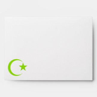 Olive Green Crescent & Star.png Envelope