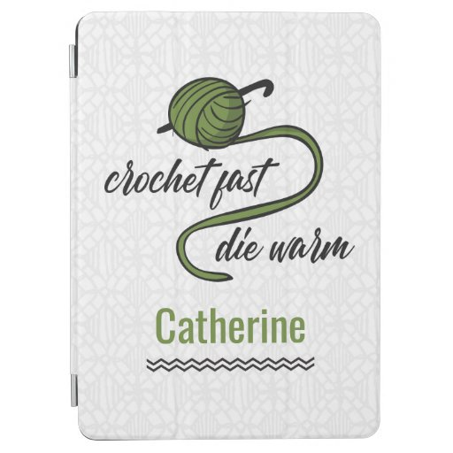 Olive Green Crochet Fast, Die Warm iPad Air Cover