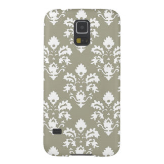 Olive Green Damask Case For Galaxy S5