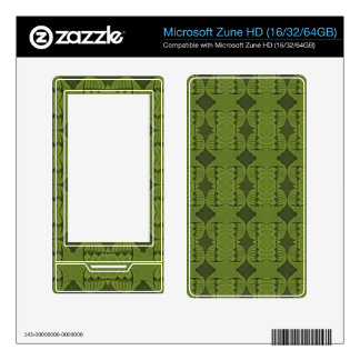 olive green deco pattern decals for the zune HD