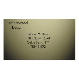 Olive Green Design Business Card