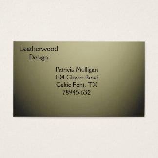 Olive Green Design Business Card