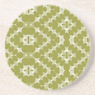 Olive Green Diamond Pattern Coaster