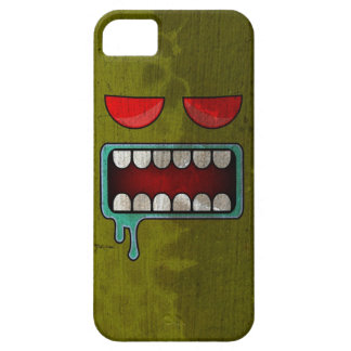 Olive Green Drooling Red-Eyed Monster Face iPhone SE/5/5s Case