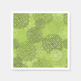 Olive Green Flower Burst Napkin