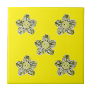 Olive green flowers for kitchen tile