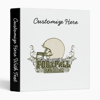 Olive Green Football Hardcore T-shirts and Gifts 3 Ring Binder