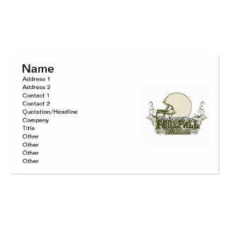 Olive Green Football Hardcore T-shirts and Gifts Double-Sided Standard Business Cards (Pack Of 100)
