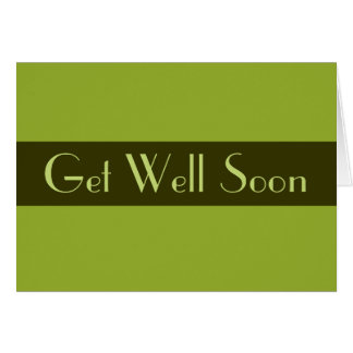 Olive Green Get Well Soon Card