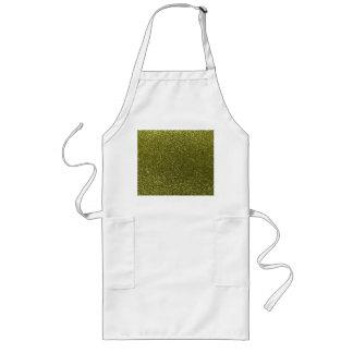 Olive green glitter aprons