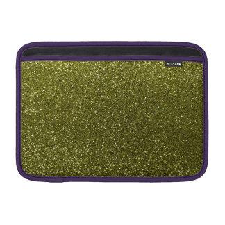 Olive green glitter MacBook sleeve