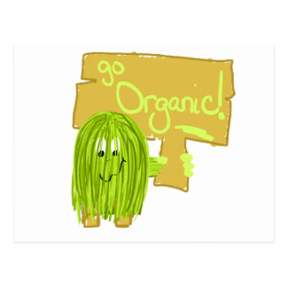 Olive Green Go Organic Postcard