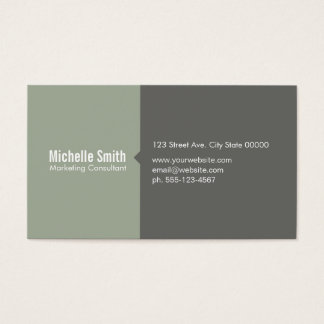 Olive Green & Grey Business Card