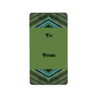 Olive green grey gift tags address label