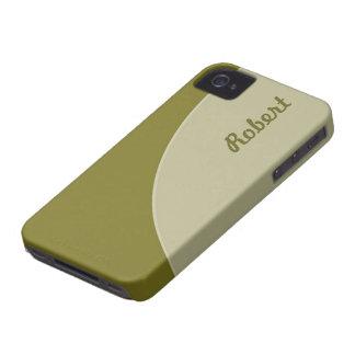 Olive green grey modern circle iPhone 4 case