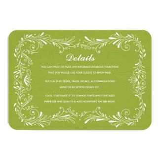 Olive Green Hand-Drawn Foliage Response Card RSVP