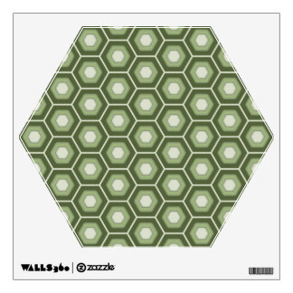 Olive Green Hex Tiled Wall Decal