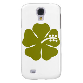 Olive green hibiscus flower galaxy s4 cover