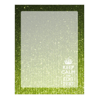Olive Green Keep Calm Have Your Text Letterhead
