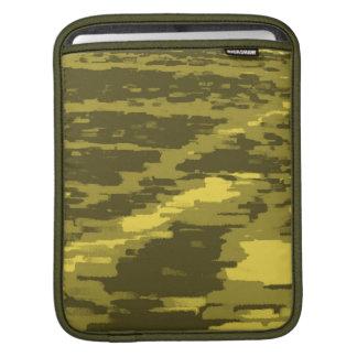 Olive, Green, Lime Abstract Art Retro iPad sleeve