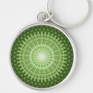 Olive Green Mandala Keychain