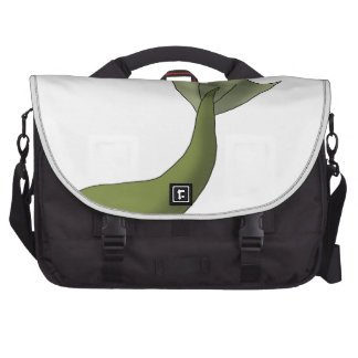 Olive Green Mermaid Tail Laptop Commuter Bag