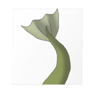 Olive Green Mermaid Tail Note Pad