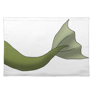 Olive Green Mermaid Tail Place Mats