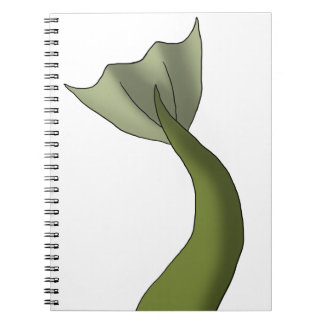 Olive Green Mermaid Tail Spiral Notebook