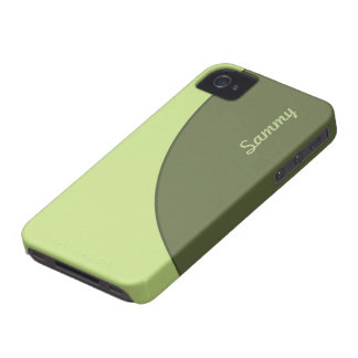 Olive Green Modern iPhone 4 Case-Mate Case
