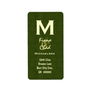 Olive Green Monogram V566 Label