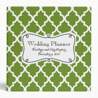 Olive Green Moroccan Wedding Planner Binder