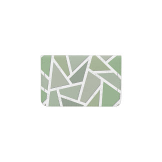 Olive green mosaic pattern business card holder