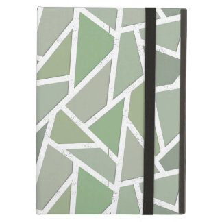 Olive green mosaic pattern case for iPad air