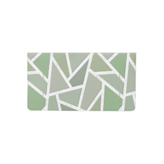 Olive green mosaic pattern checkbook cover