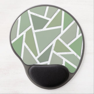 Olive green mosaic pattern gel mouse pad